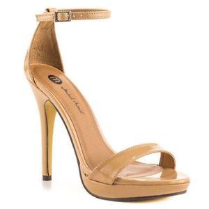 Michael Antonio Lovina Nude Open-Toe Sandals